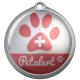 Médaille pour chien ou chat - série PetAlert - 27 mm